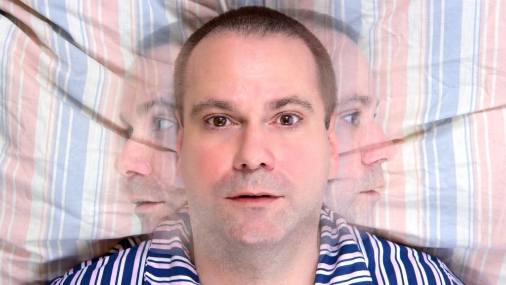 Man needing neurofeedback for insomnia